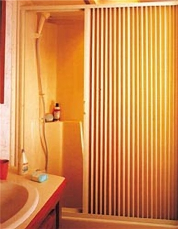 "Irvine 3657SI RV Pleated Shower Door - 36"" x 57"" - Ivory"