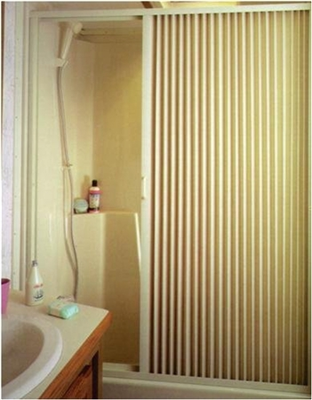 "IRVINE 3667SI 36"" x 67"" RV Pleated Shower Door- Ivory"