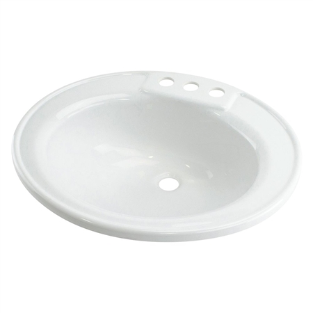 Lippert Components 209635 Better Bath RV Sink - White