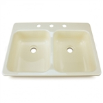 Lippert 209401 Better Bath RV Double Kitchen Sink - Parchment