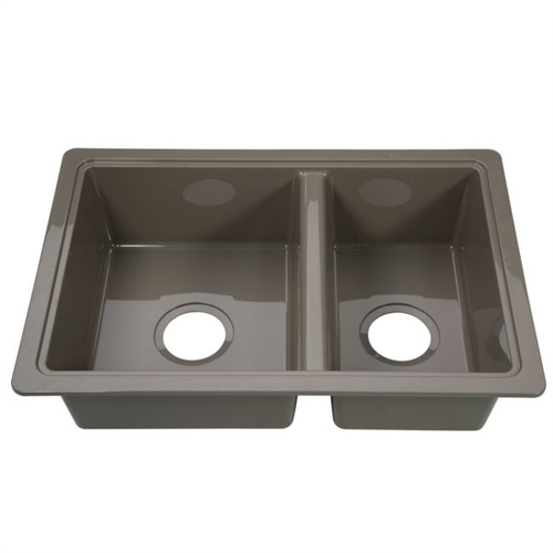 Lippert 209586 Better Bath Double Bowl Galley Sink - Stainless Steel