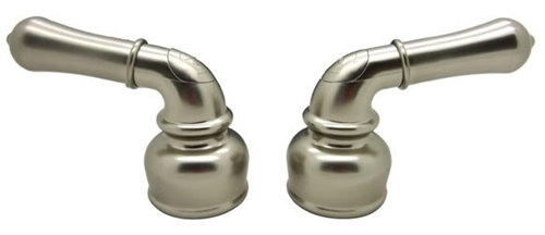 Non-Metallic Satin Nickel Classical Lever Dura Faucet Handles
