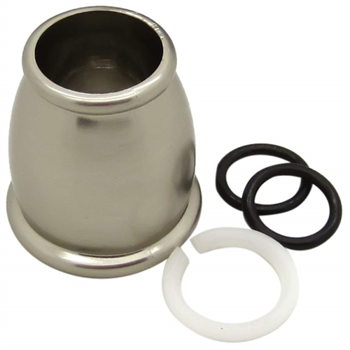 Dura Faucet Satin Nickel Bell Style Spout Nut & Rings Kit