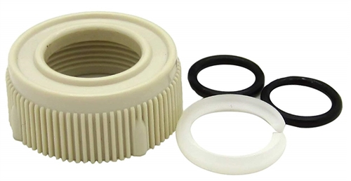 Dura Faucet Bisque RV Spout Nut & Rings Kit