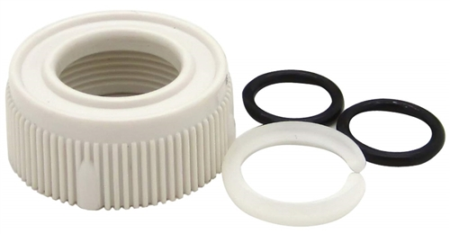 Dura Faucet White Spout Nut & Rings Kit