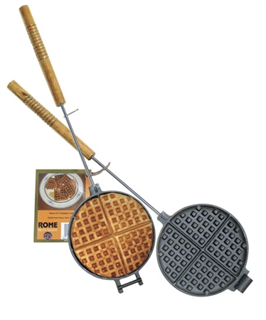 Rome Industries 1028 Cast Iron Chuckwagon Waffle Iron