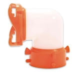 Camco 39852 RhinoFLEX 90 Degree Swivel Fitting - Semi-Translucent