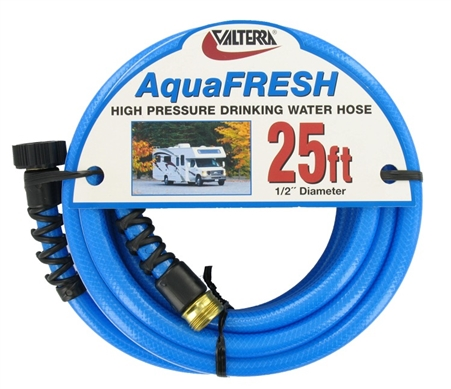 "Valterra W01-8300 AquaFRESH High Pressure RV Water Hose - 1/2"" x 25'"