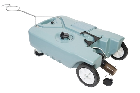 Tote-N-Stor 14856 Portable 4 Wheel RV Waste Tank - 25 Gallon