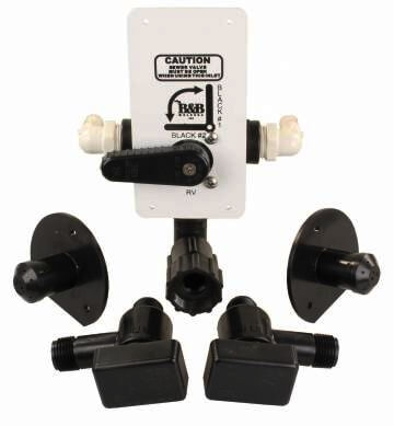 JR Products DVT-1-A RV Tank Flush Diverter Valve Kit