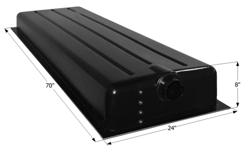 Icon 39 Gallon RV Holding Tank - Center End Drain HT192BED