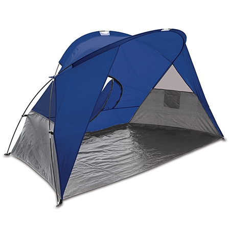 Picnic Time Cove Sun Shelter - Blue/Grey/Silver