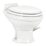 "Dometic 302311681 Ceramic 13-3/4"" Low Profile RV Toilet - 311 Series without Hand Sprayer - White"