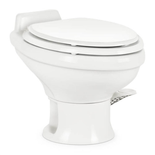 "Dometic 302311781 Ceramic 13-3/4"" Low Profile RV Toilet - 311 Series with Hand Sprayer - White"