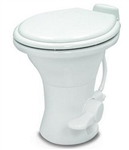 "Dometic 302310181 Ceramic 18"" RV Toilet - 310 Series with Hand Sprayer - White"