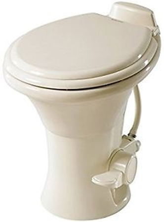 "Dometic 302310183 Ceramic 18"" RV Toilet - 310 Series with Hand Sprayer - Bone"