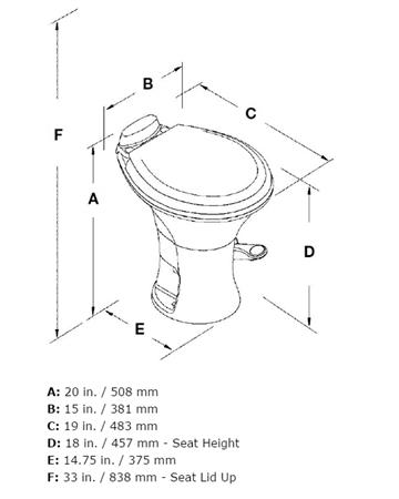 Dometic 302310183 Ceramic 18