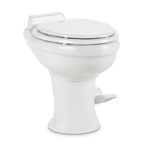 "Dometic 302320181 Toilet Standard 18"" Height - With Hand Sprayer - White"