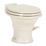 "Dometic 302311783 Ceramic 13-3/4"" Low Profile RV Toilet - 311 Series with Hand Sprayer - Bone"