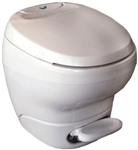 Thetford 31100 Bravura High Profile RV Toilet With Water Saver Sprayer - White