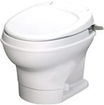Thetford 31646 Aqua-Magic V Low Profile Toilet With Handle Flush - White
