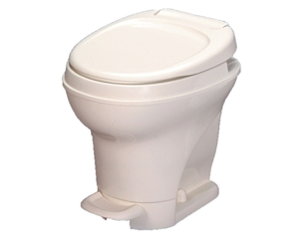 Thetford 31679 Aqua-Magic V Pedal High Profile RV Toilet with Hand Sprayer  - White
