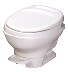 Thetford 31650 Aqua-Magic V Low Profile Toilet With Pedal Flush - White