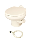 Thetford 42065 Aqua-Magic Style II China RV Toilet - Low Profile Bone - With Sprayer