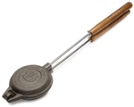Rome Industries 1205 Round Jaffle Iron with Steel And Wood Detachable Handles