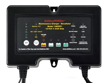 BatteryMINDer 12V 8 Amp On Board Battery Charger/Maintainer/Desulfator