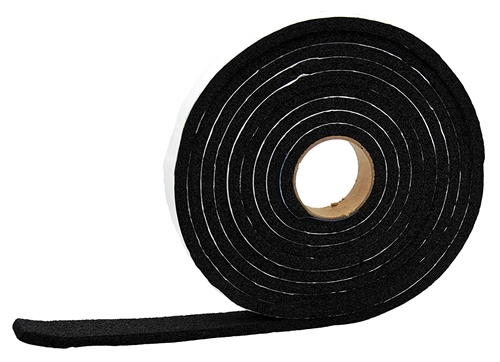 "AP Products 5/16"" X 1"" 50' Vinyl Foam RV Weather Stripping Tape - Black"