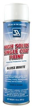 3X Chemistry High Solids Single Coat Paint - Gloss Black