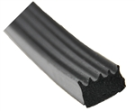 "AP Products 018-855 Black Ribbed Foam Seal With Tape  - 1/2"" x 5/16"" x 50'"
