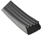 "AP Products 018-523 Ribbed Foam Seal With Tape - 5/8"" x 3/8"" x 50 Ft - Black"