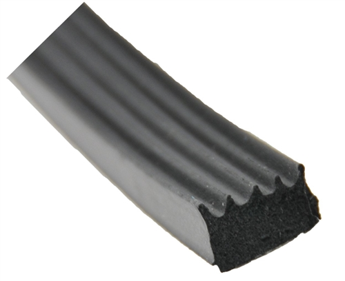 "AP Products 018-523 5/8"" x 3/8"" Ribbed Foam Seal With Tape - Black"