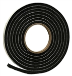 "AP Products 018-5163810 Multi-Purpose Vinyl Foam Tape - 5/16"" x 3/8"" x 10 Ft - Black"