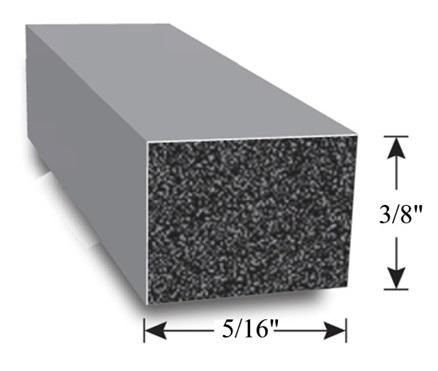 AP Products 018-5163810 Vinyl Foam Tape-5//16 x 3//8 x 10