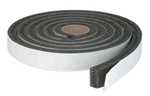 "AP Products 018-181417 Black Vinyl Foam Tape - 1/8"" x 1/4"" x 50'"