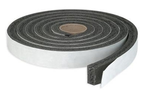 "AP Products 018-3163817 Black Vinyl Foam Tape - 3/16"" x 3/8"" x 50'"