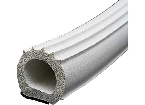 "AP Products 018-1097 1"" x 1"" Ribbed D Seal With Tape - White"