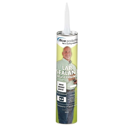 Dicor Corp 10.3Oz Lap Sealant Dove Bright White