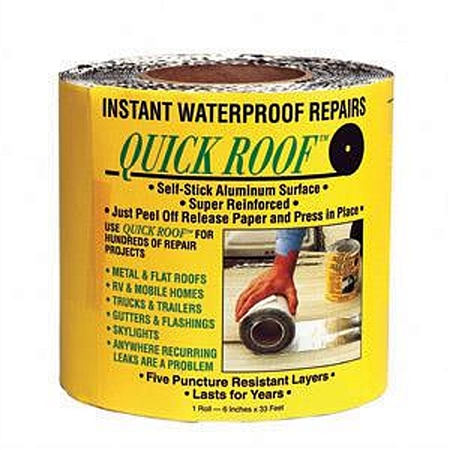 "CoFair Products Quick Roof Aluminum Roof Repair Tape - 6"" x 33'"