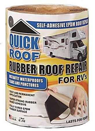 "CoFair Products Quick Roof Rubber Roof Repair - 6"" x 16'"