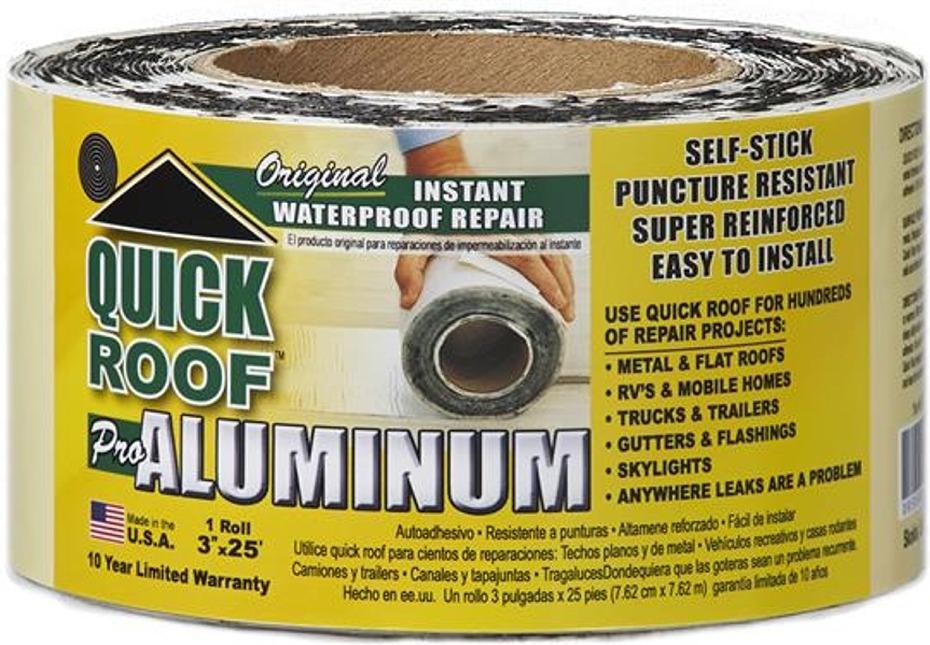 Cofair Products Qr325 Quick Roof Aluminum Rv Roof Repair Tape 3 X 25