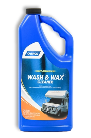 Camco 40493 Pro-Strength RV Wash & Wax 32oz