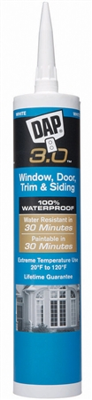 DAP 18360 3.0 Window, Door, Trim & Sliding High Performance Sealant - White - 9 Oz