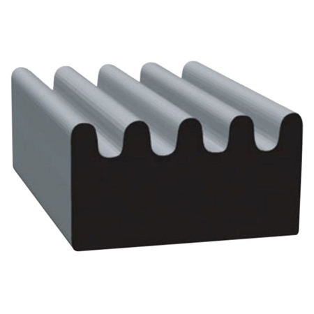 "Clean Seal 103H2-50 3/8"" x 5/8"" Ribbed EDPM Seal - Black"