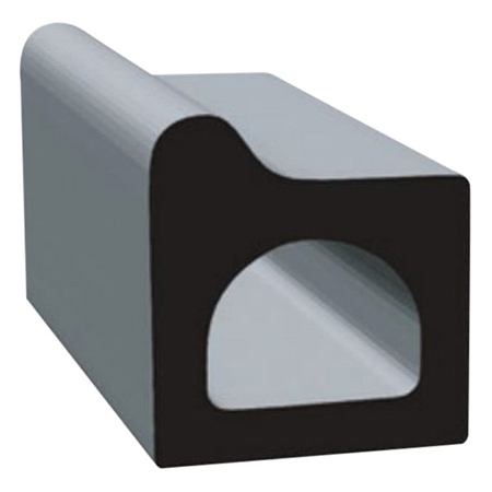 "Clean Seal 106H2-50 0.41"" W x 0.44"" H x 50' Rectangular EDPM Seal - Black"