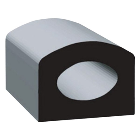 "Clean Seal 50512H2-50 5/8"" x 1/2"" EDPM D Seal With Tape - Black"
