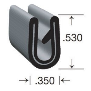 "Clean Seal G7033-50 RV Clean Grip Clip-On U Type Seal - 0.35"" x 0.53"""